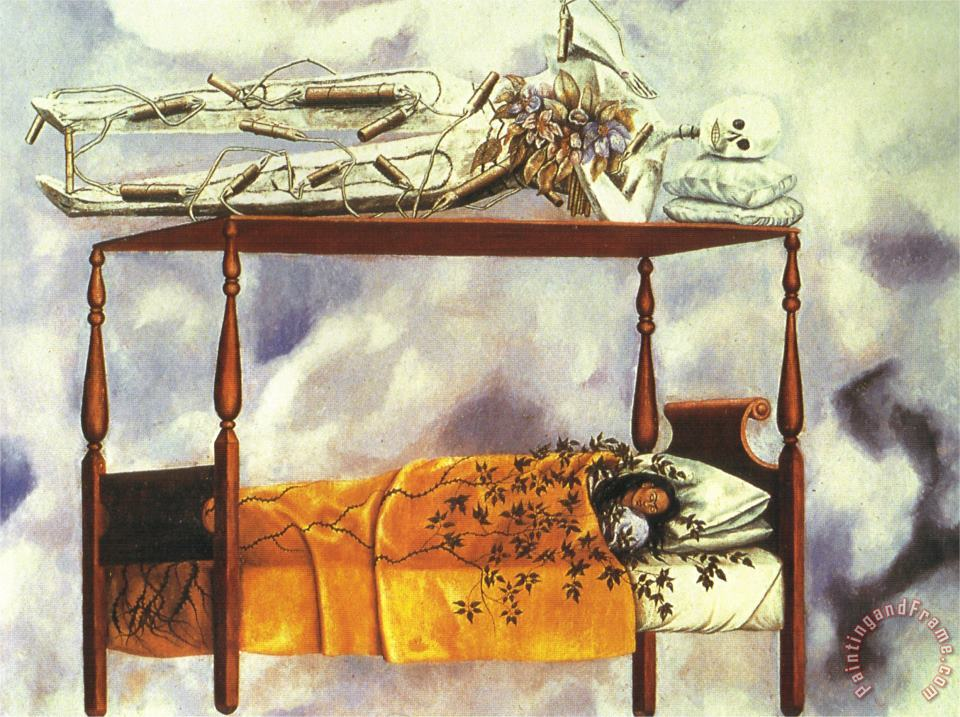 The Dream The Bed 1940 painting - Frida Kahlo The Dream The Bed 1940 Art Print