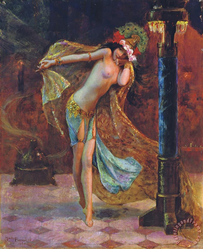 Gaston Bussiere Dance of The Veils Art Painting