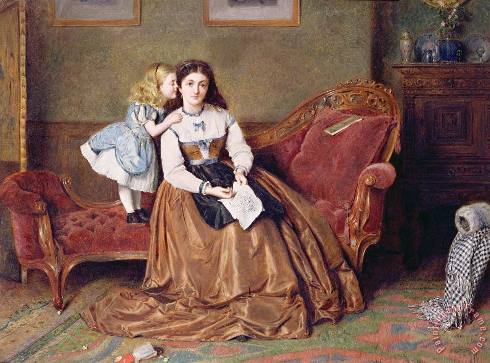 A Mother's Darling painting - George Goodwin Kilburne A Mother's Darling Art Print