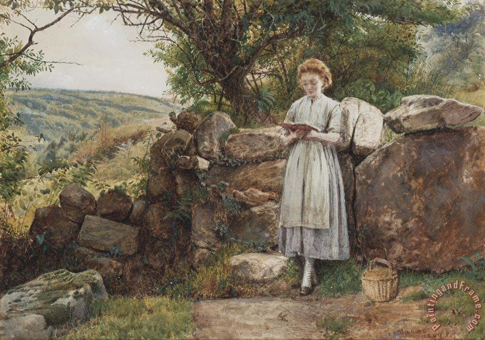 George Goodwin Kilburne A Peaceful Read Art Print