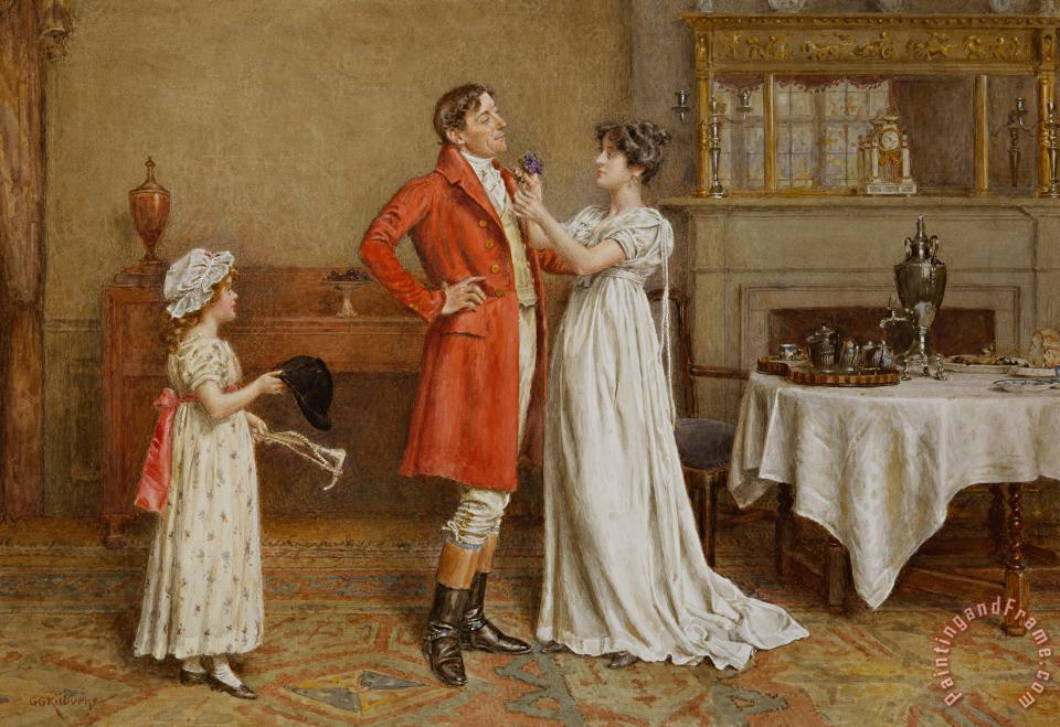 I Wish You Luck painting - George Goodwin Kilburne I Wish You Luck Art Print