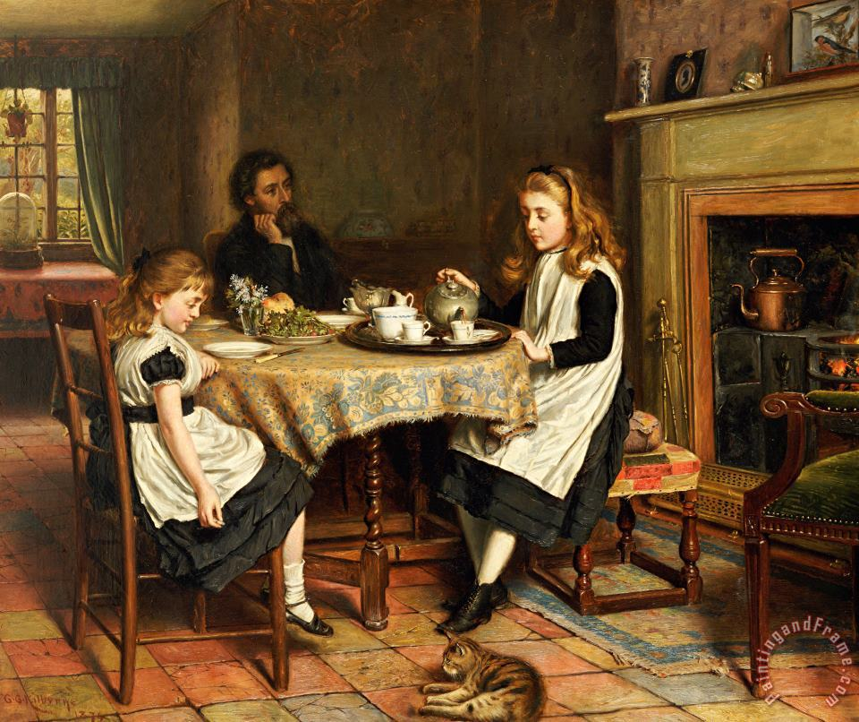 There Is No Fireside... painting - George Goodwin Kilburne There Is No Fireside... Art Print