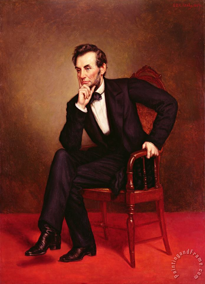 Portrait of Abraham Lincoln painting - George Peter Alexander Healy Portrait of Abraham Lincoln Art Print