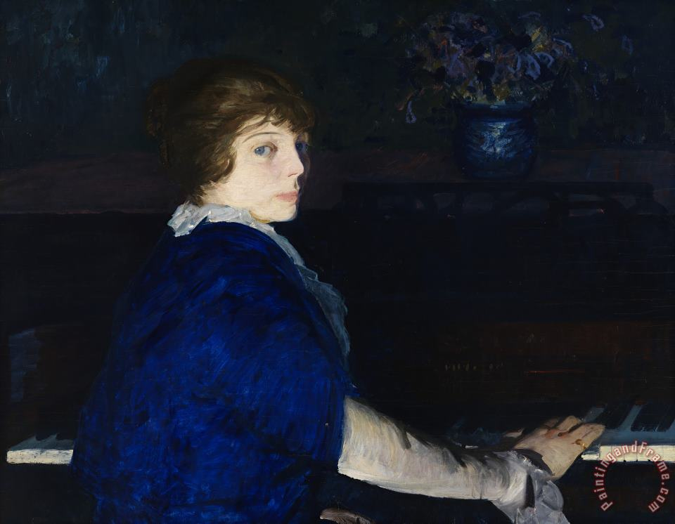 Emma at The Piano painting - George Wesley Bellows Emma at The Piano Art Print