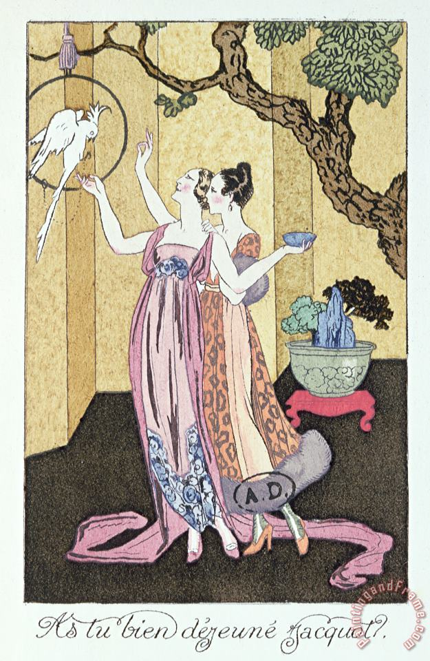 Have You Had A Good Dinner Jacquot? painting - Georges Barbier Have You Had A Good Dinner Jacquot? Art Print