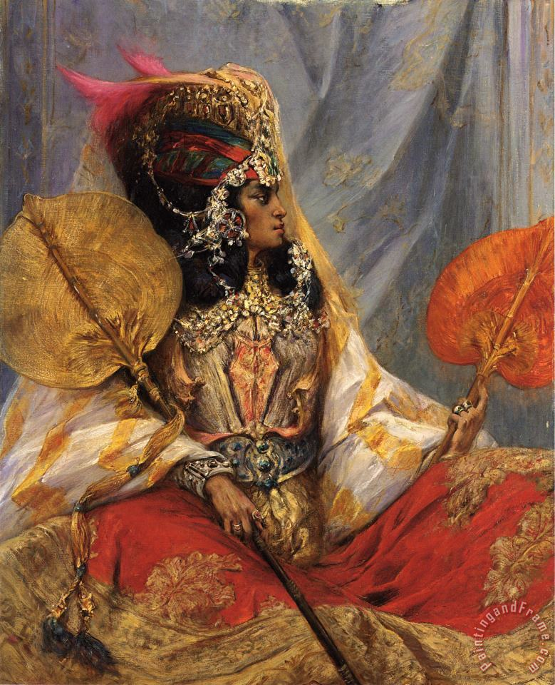 Ouled Nail Woman painting - Georges Jules Victor Clairin Ouled Nail Woman Art Print