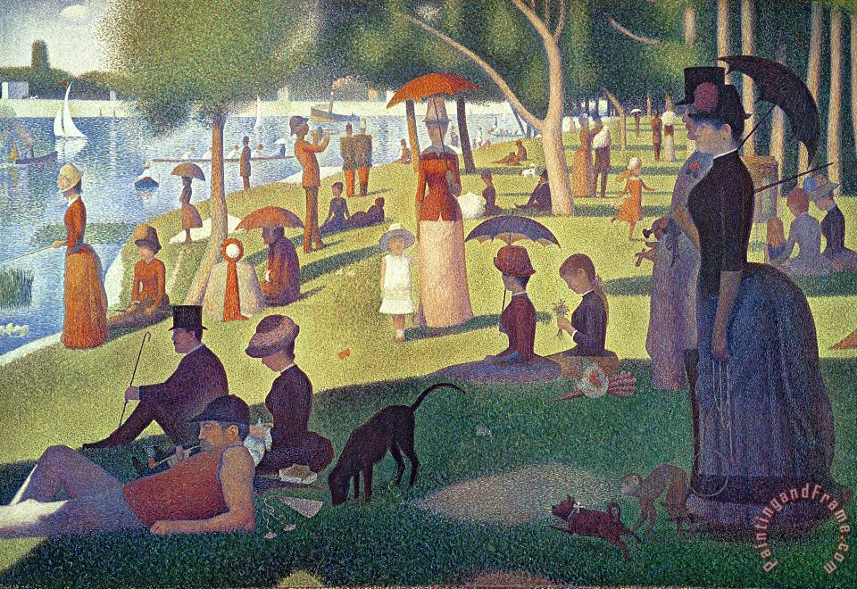 Georges Pierre Seurat Sunday Afternoon on the Island of La Grande Jatte Art Print