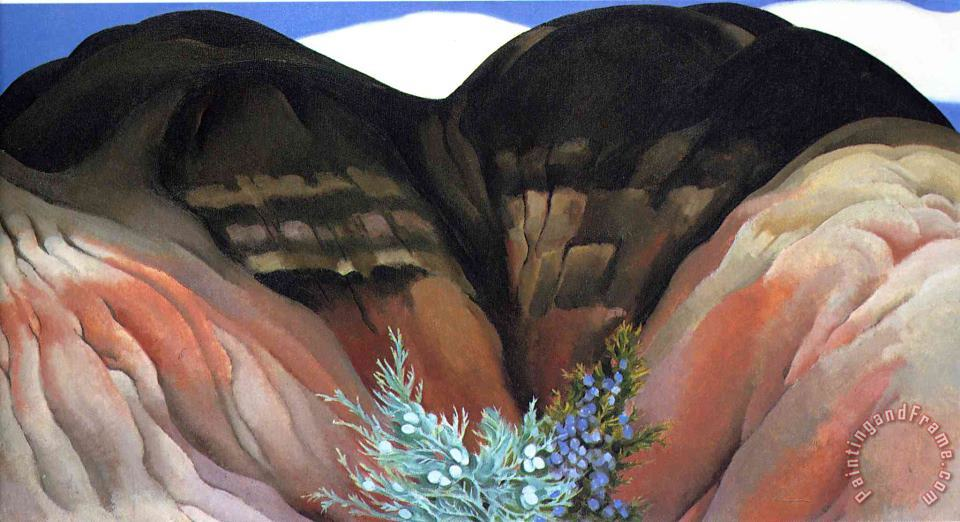 Black Hills with Cedar painting - Georgia O'keeffe Black Hills with Cedar Art Print