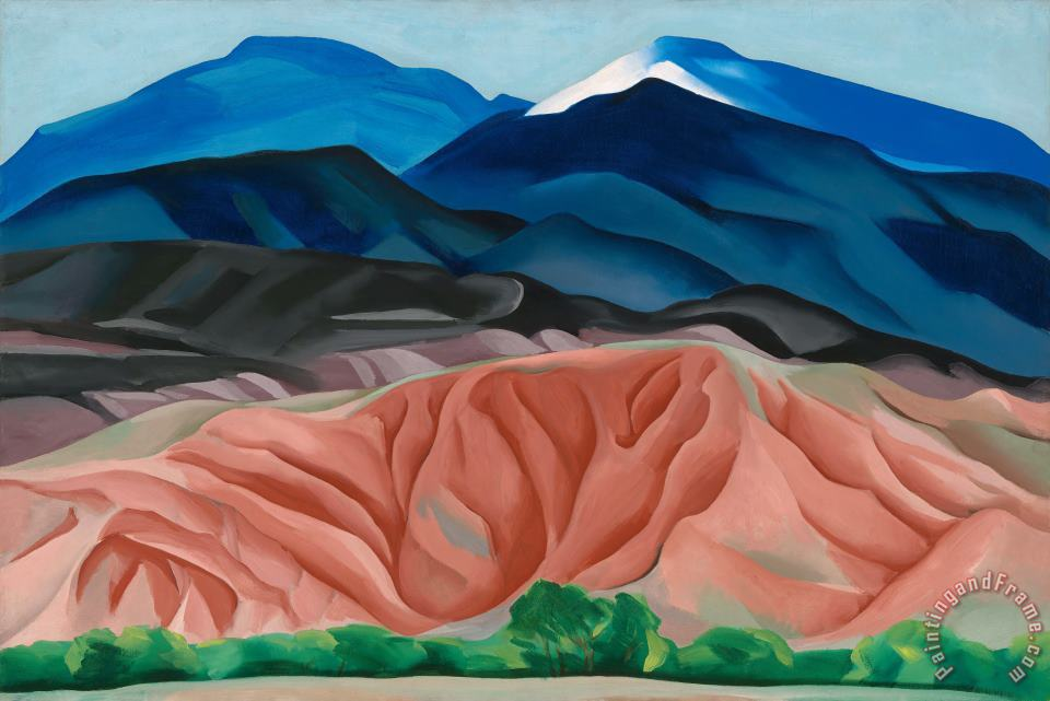 Georgia O'keeffe Black Mesa Landscape New Mexico Out Back of Mary S II Art Print