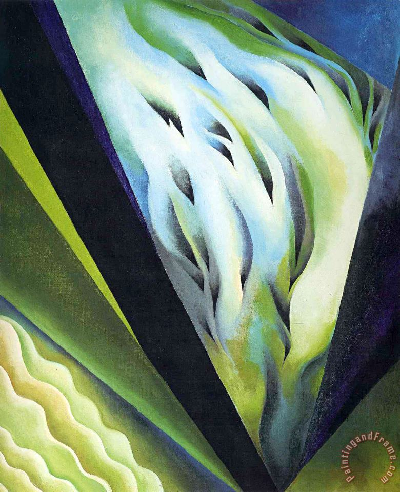 Blue And Green Music painting - Georgia O'keeffe Blue And Green Music Art Print