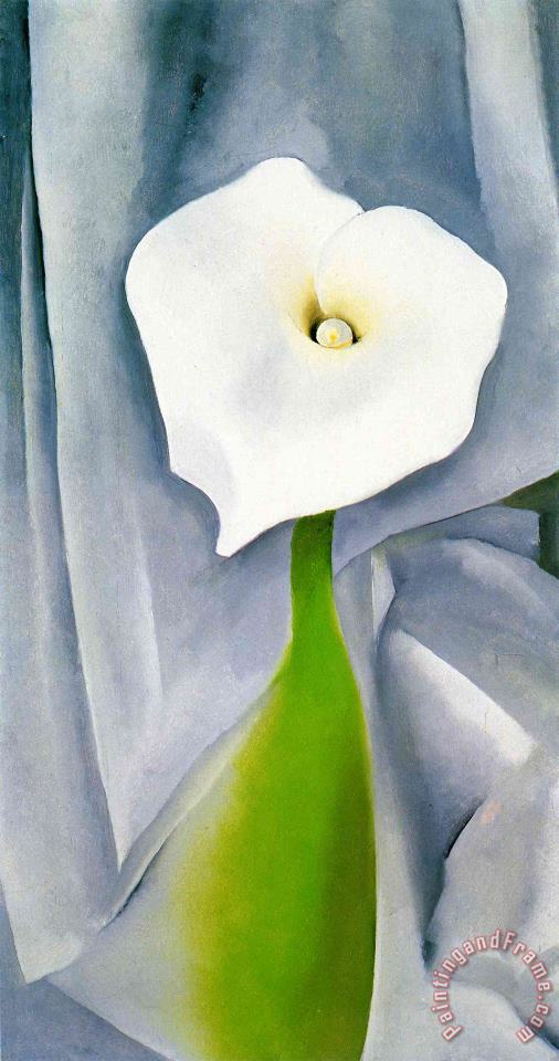Calla Lily on Grey painting - Georgia O'keeffe Calla Lily on Grey Art Print