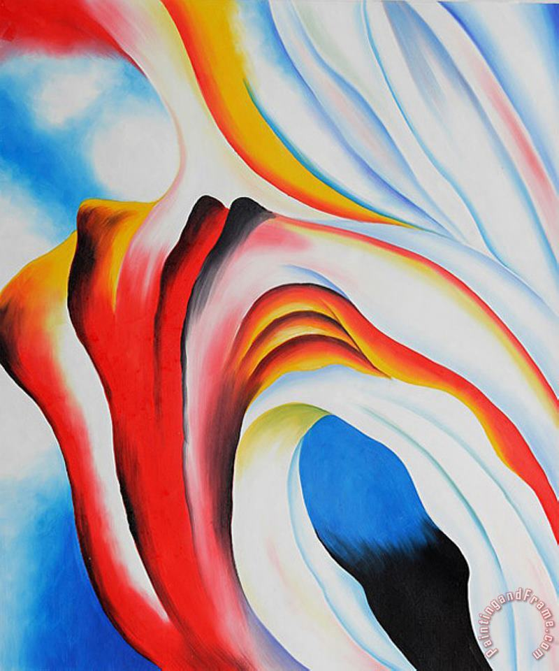 Music Pink And Blue II painting - Georgia O'keeffe Music Pink And Blue II Art Print