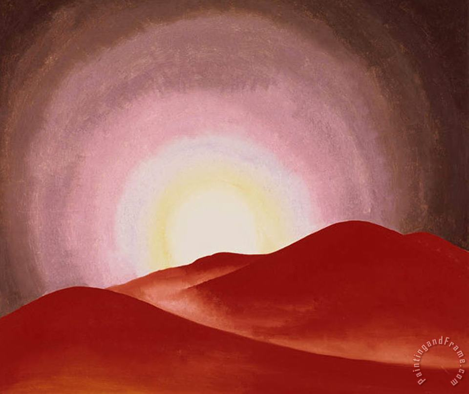 Red Hills Lake George painting - Georgia O'keeffe Red Hills Lake George Art Print