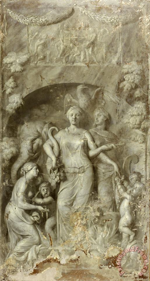 Allegory of Charity (generosity, Bounty) painting - Gerard de Lairesse Allegory of Charity (generosity, Bounty) Art Print