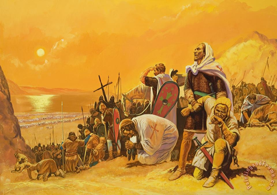 The Crusades painting - Gerry Embleton The Crusades Art Print