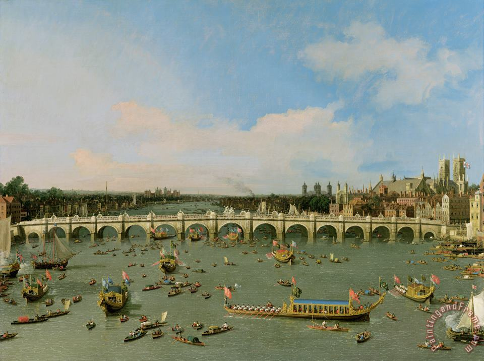 Giovanni Antonio Canaletto Westminster Bridge - London Art Painting