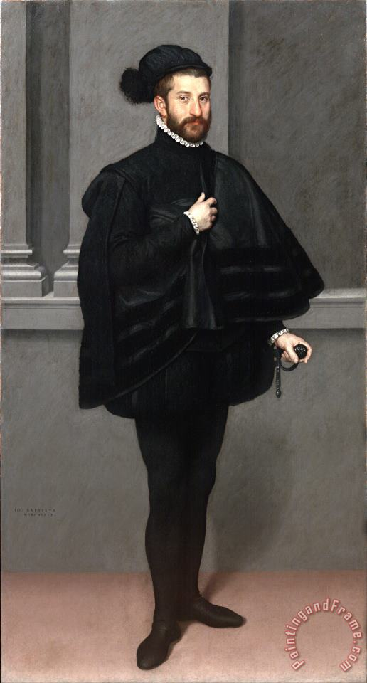 Giovanni Battista Moroni The Knight in Black Art Painting