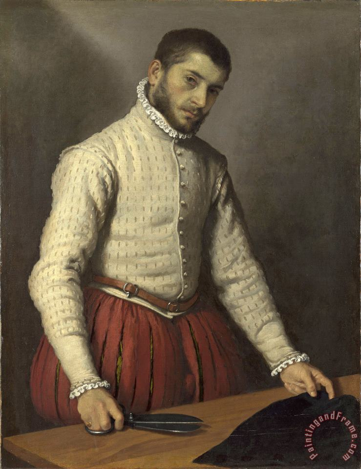 The Tailor ('il Tagliapanni') painting - Giovanni Battista Moroni The Tailor ('il Tagliapanni') Art Print