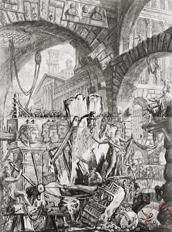 Giovanni Battista Piranesi The Man On The Rack Plate II From Carceri D'invenzione Art Painting