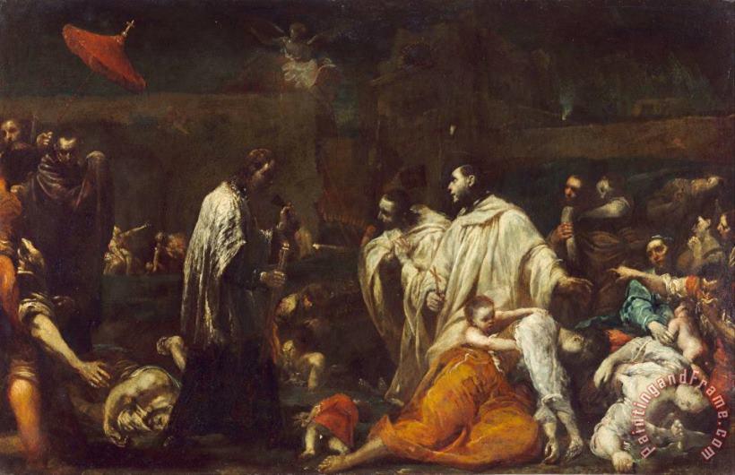 Giuseppe Maria Crespi Bernard Tolomei And The Plague In Siena