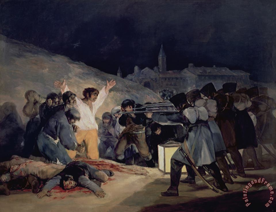 Execution of the Defenders of Madrid painting - Goya Execution of the Defenders of Madrid Art Print