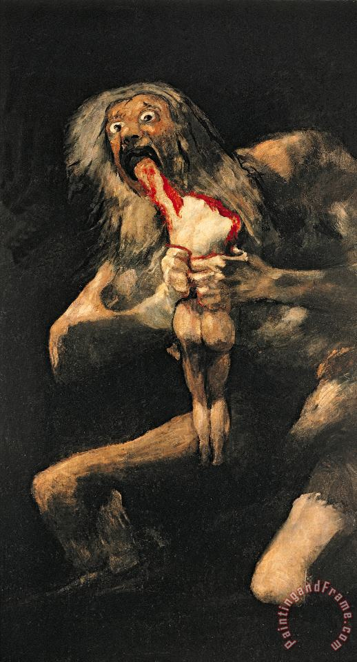 Goya Saturn Devouring one of his Children Art Painting