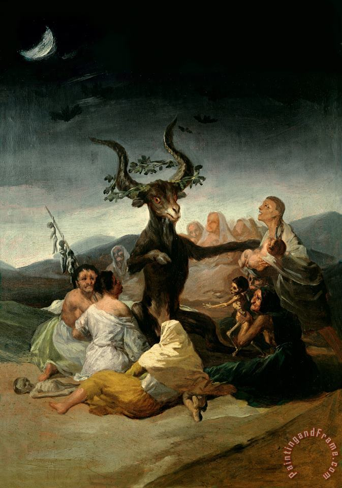 Goya The Witches' Sabbath Art Print