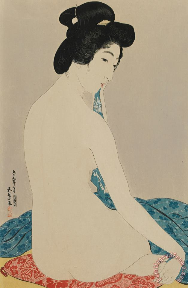 Woman After A Bath Taisho Era painting - Goyo Hashiguchi Woman After A Bath Taisho Era Art Print
