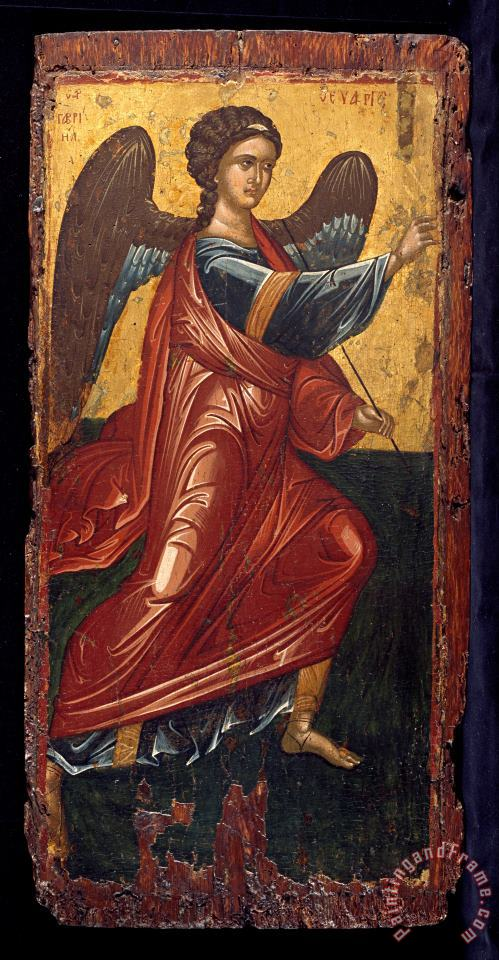 Greek, Late Byzantine The Archangel Gabriel, From an Annunciation Scene on The King's Door of an Iconostasis Art Print