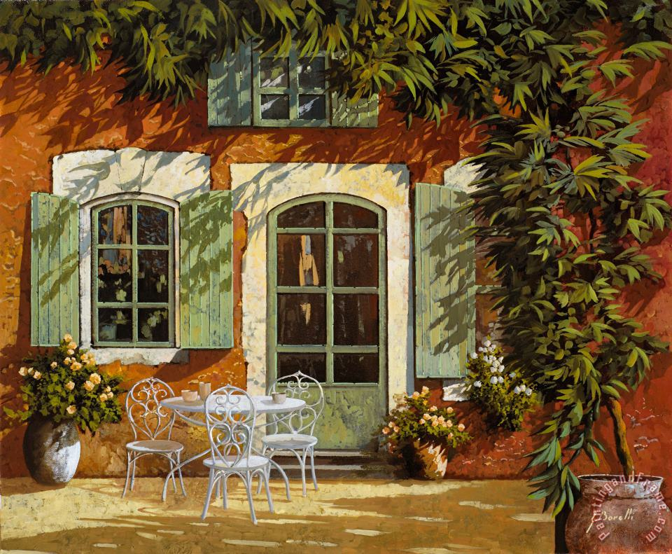 Al Fresco In Cortile painting - Collection 7 Al Fresco In Cortile Art Print