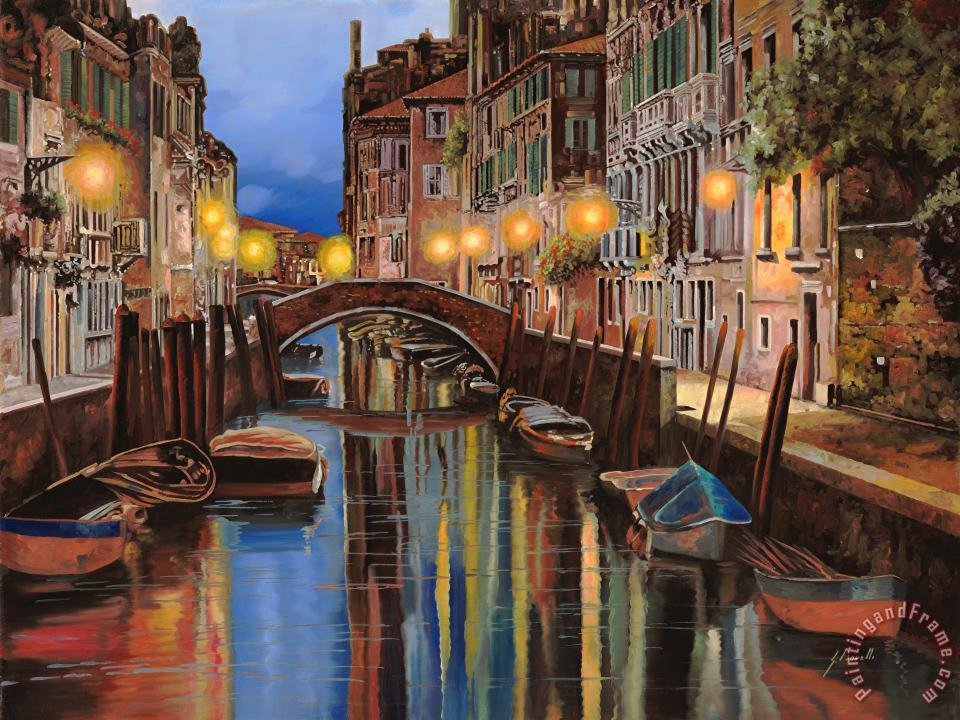 alba a Venezia painting - Collection 7 alba a Venezia Art Print