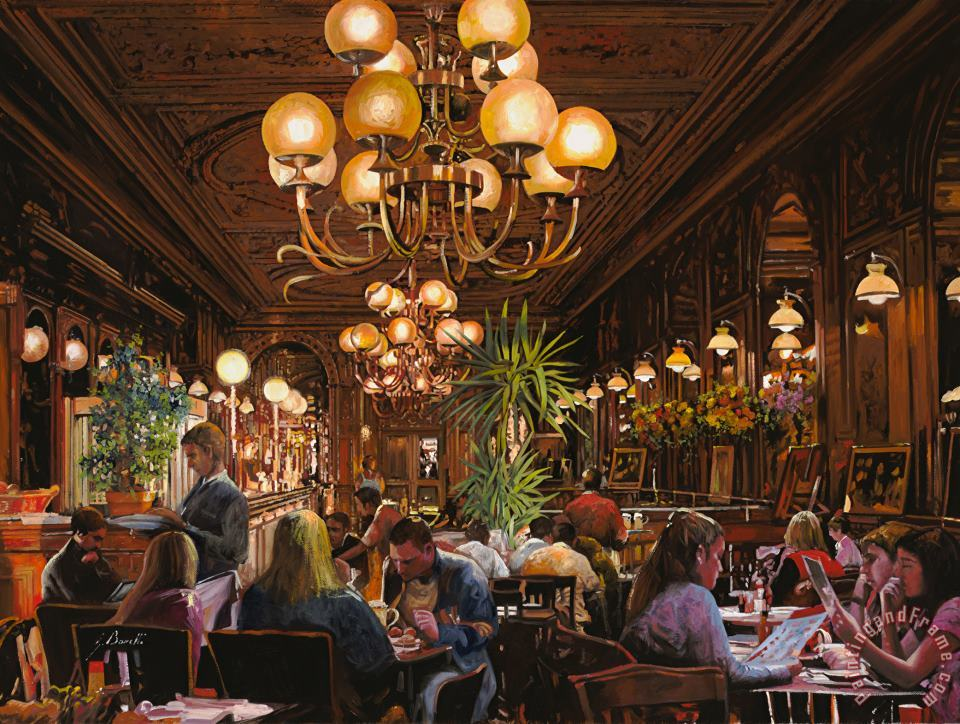 Antica Brasserie painting - Collection 7 Antica Brasserie Art Print
