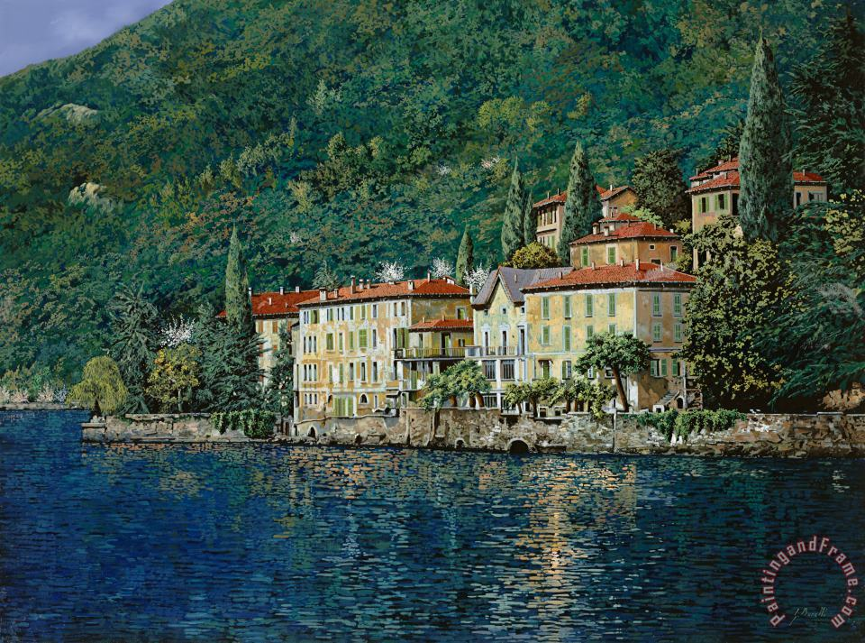 Bellano on Lake Como painting - Collection 7 Bellano on Lake Como Art Print