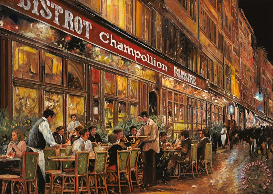 Collection 7 Bistrot Champollion Art Painting
