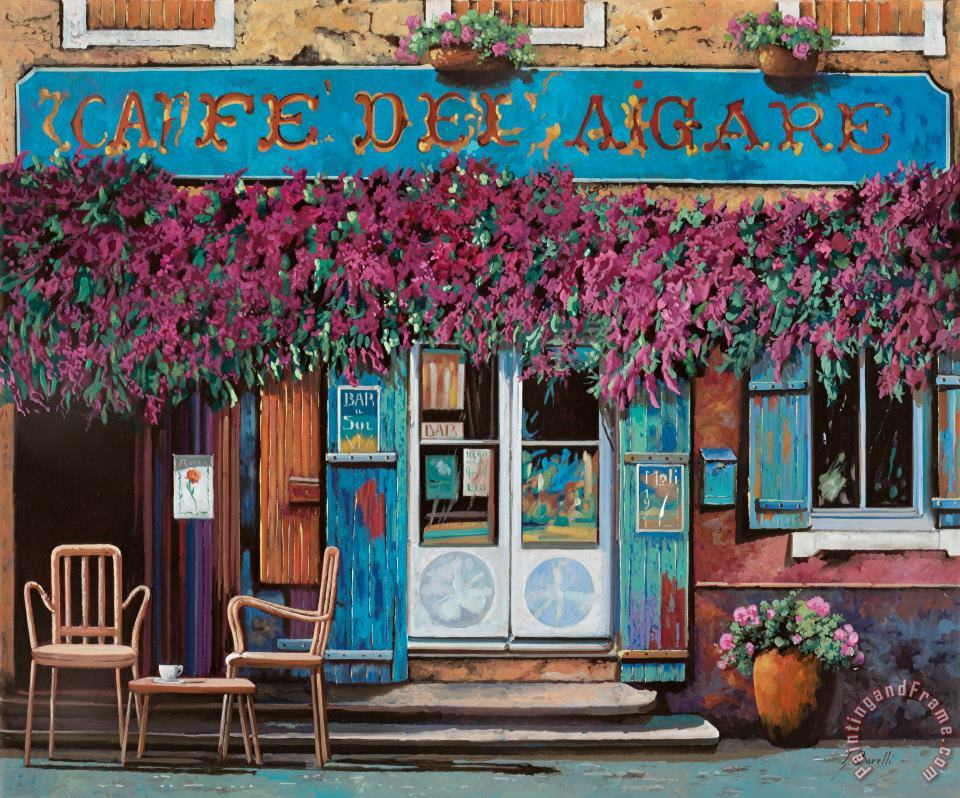caffe del Aigare painting - Collection 7 caffe del Aigare Art Print