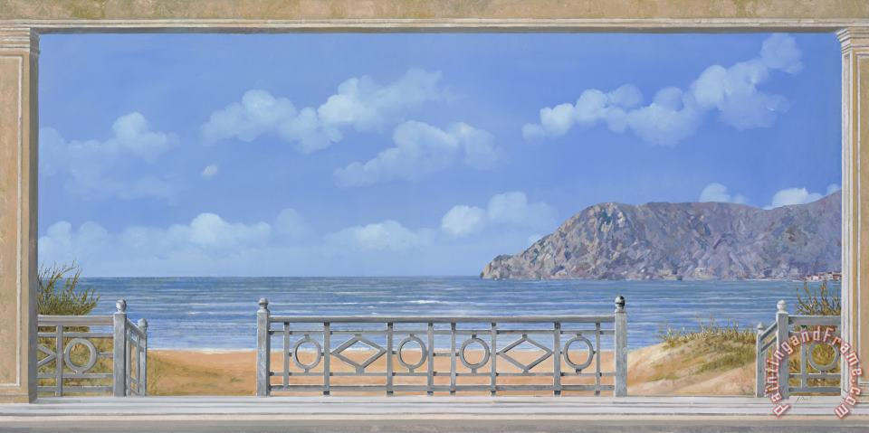 Guardando Il Mare painting - Collection 7 Guardando Il Mare Art Print