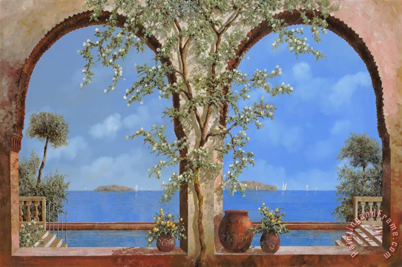 Fiori Blu E Bianchi.Collection 7 I Fiori Bianchi Sulla Parete Painting I Fiori Bianchi