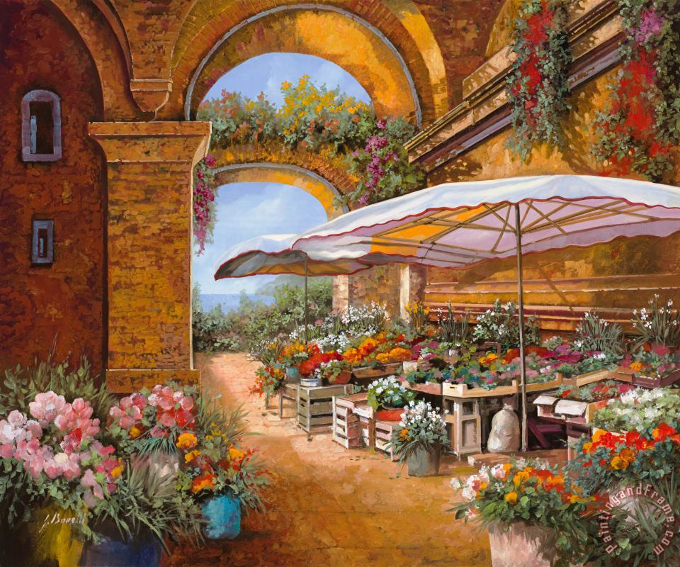 Il Mercato Sotto I Portici painting - Collection 7 Il Mercato Sotto I Portici Art Print