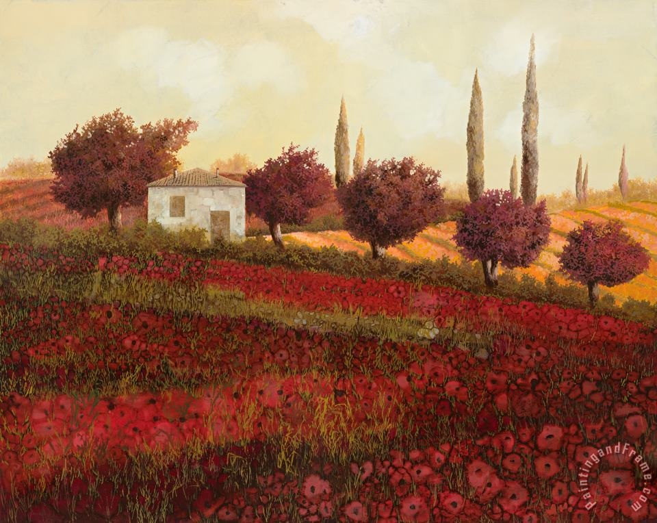 Papaveri In Toscana painting - Collection 7 Papaveri In Toscana Art Print