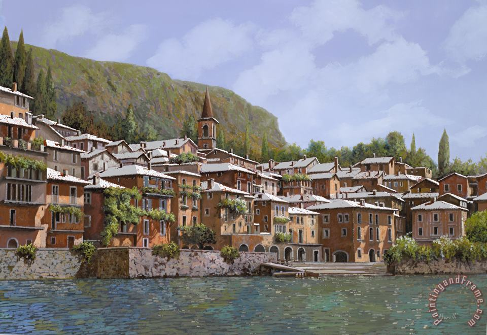 Sul Lago di Como painting - Collection 7 Sul Lago di Como Art Print