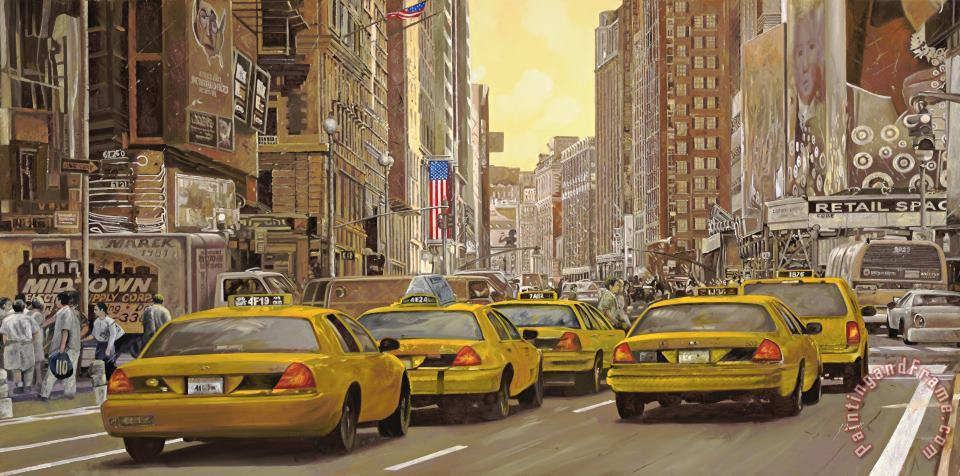 Collection 7 taxi a New York Art Print