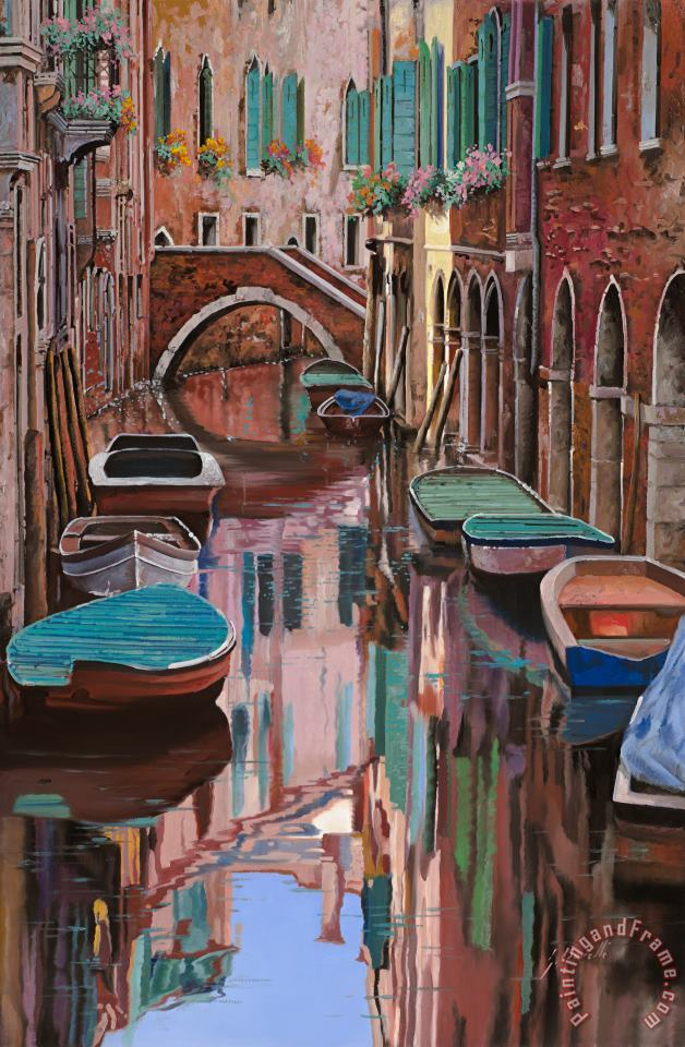 Venezia a colori painting - Collection 7 Venezia a colori Art Print