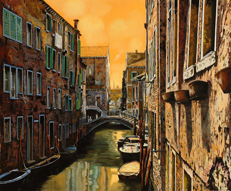 Venezia Al Tramonto painting - Collection 7 Venezia Al Tramonto Art Print