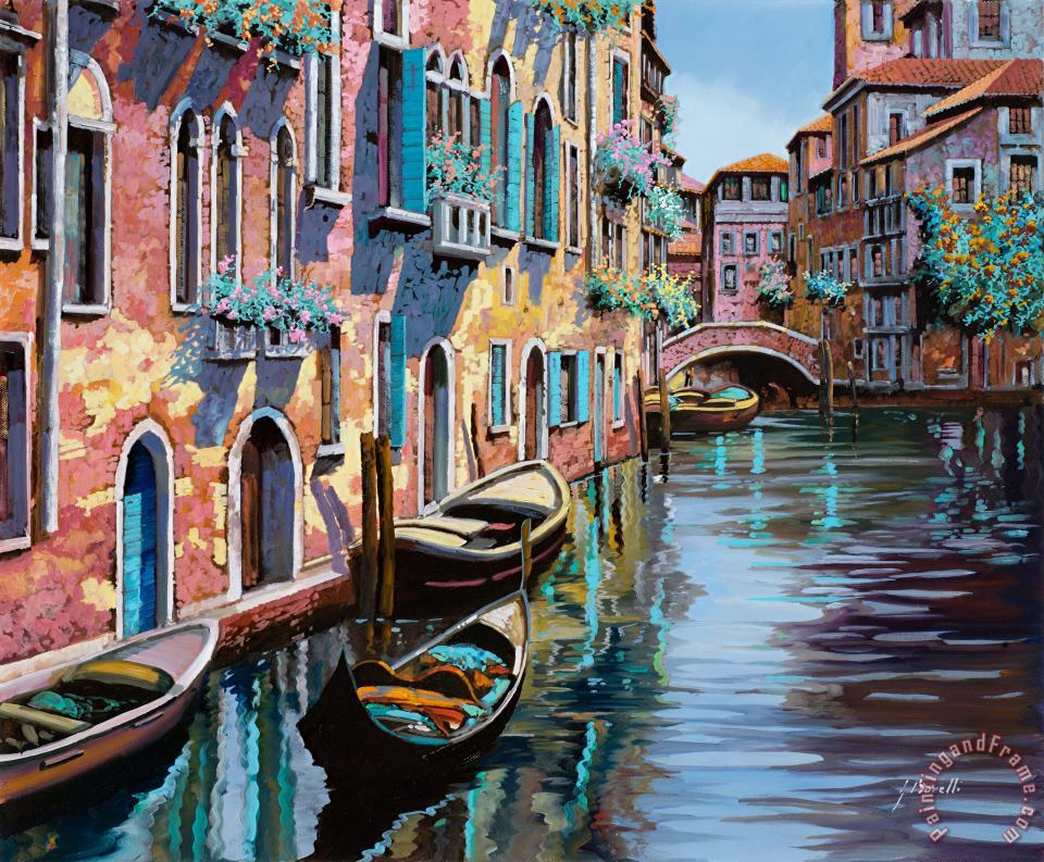 Venezia In Rosa painting - Collection 7 Venezia In Rosa Art Print