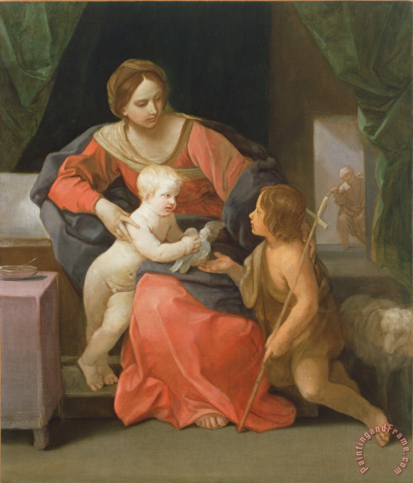 Madonna And Child With Saint John The Baptist painting - Guido Reni Madonna And Child With Saint John The Baptist Art Print