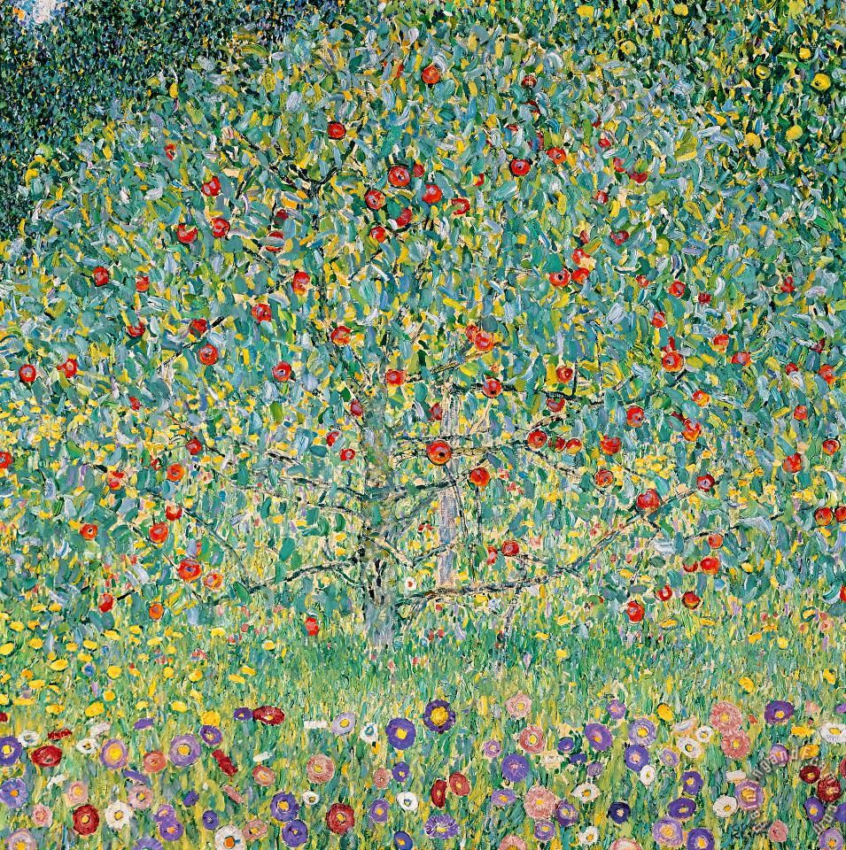 Gustav Klimt Apple Tree I Art Print
