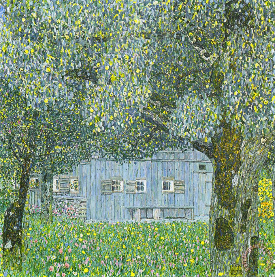 Gustav Klimt Farmhouse In Upper Austria Art Print