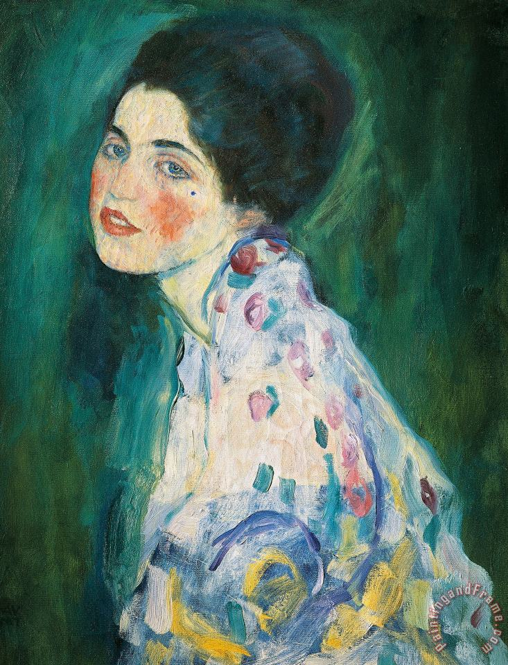 Portrait Of A Young Woman painting - Gustav Klimt Portrait Of A Young Woman Art Print