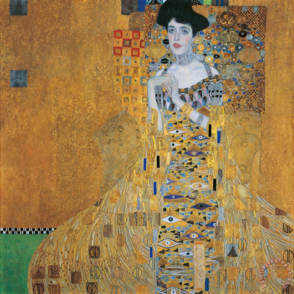 Portrait Of Adele Bloch-bauer I painting - Gustav Klimt Portrait Of Adele Bloch-bauer I Art Print