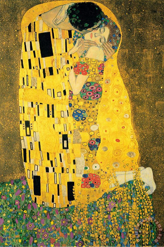 Gustav Klimt The Kiss Ii Art Print